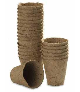 Godets de Culture en Tourbe Ronds Diam.  8 cm