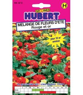 Graines de Fleurs d'Eté en Mélange Rouge et Or Format ECO