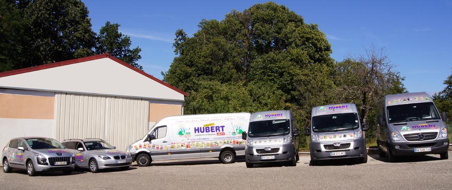 Les véhicule de la société Graines Hubert